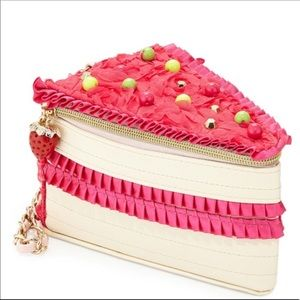 NWT clutch Betsy Johnson let them eat cake clutch
